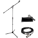 MICROFONO ALPHA AUDIO STAGE SET C/ SOPORTE Y CABLE